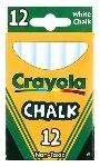 Crayola Anti-Dust Chalk - White - Pack of 12
