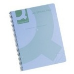 Spiral Lined Notebook - A4 - Blue Transparent Cover - Pack of 5