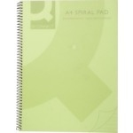 Spiral Lined Notebook - A5 - Green Transparent Cover - Pack of 5