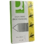 Sign Here Page Marker - Assorted - Pack of 4