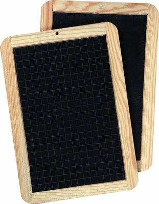 Mini Double Sided Blackboards - 26 x 18cm - Pack of 25