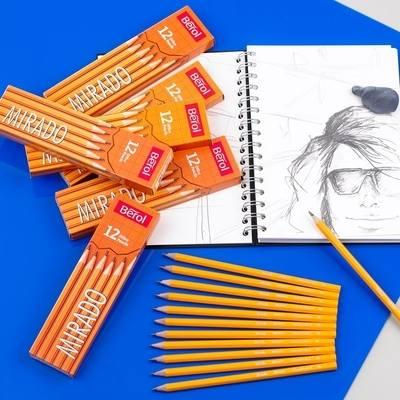Berol Mirado 4B Sketching Pencils - Pack of 12