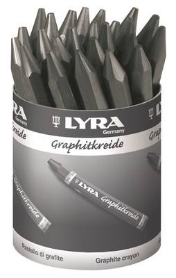 Lyra Graphite Crayons - Water Soluble - Tub of 24