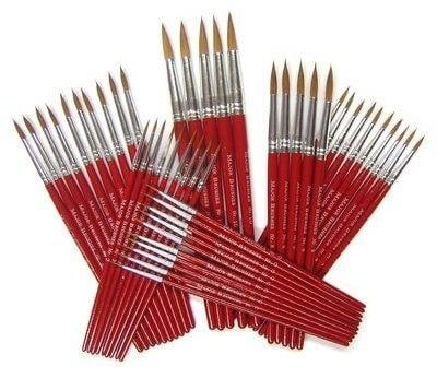 Imitation Sable KH Round Short Handled Brushes - Class Pack - Pack of 50