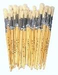 Hog Hair PH Round Short Handled Brushes - Class Pack - Pack of 50