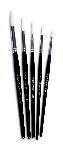 Imitation Sable SH Short Handled White Nylon Brushes - Please Select Size - Pack of 10