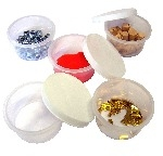 Plastic Paint/Glue Mixing Pots with Lids - Pack of 12