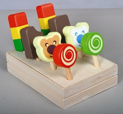 Ice Lollies in Crate - 14 x 20 x 9.5cm - Assorted - Set of 8