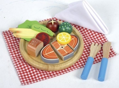 Salmon Dinner Set - 16 x 16 x 6cm - Per Set