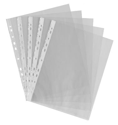 Lightweight Punched Pockets - A4 - Pack of 100