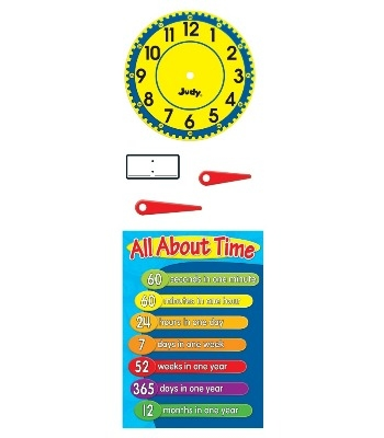 Telling The Time Bulletin Board Set - Pack of 113