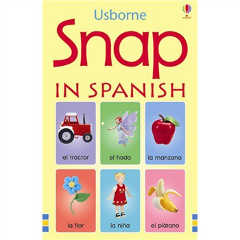 Usborne Spanish Picture Snap Cards - 3 Years + - Pack of 48