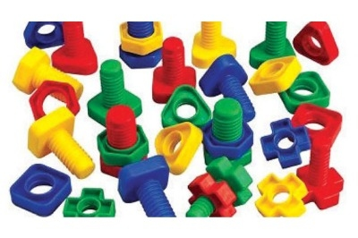 Nuts & Bolts - Assorted - Tub of 64 - 3 Years+