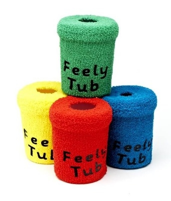 Touchy Feely Tubs - 12.5cm - Assorted - Pack of 4