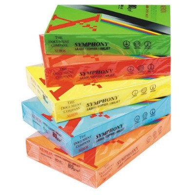 Bright Yellow Xerox Symphony A4 Copier Paper - 80gsm - Pack of 500