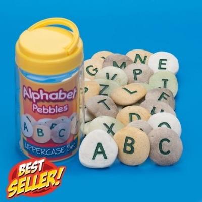 Alphabet Pebbles - Uppercase - Tub of 26