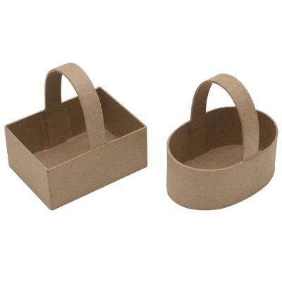 Papier Mache Baskets - Assorted - Pack of 6