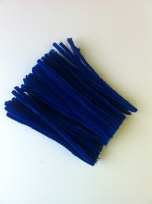 Dark Blue Pipe Cleaners - 15cm - Pack of 100