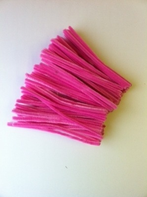 Pink Pipe Cleaners - 15cm - Pack of 100