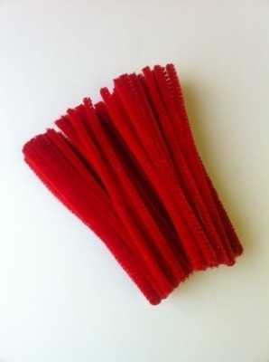 Red Pipe Cleaners - 15cm - Pack of 100