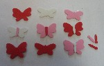 Foam Butterfly Stickers - Assorted - Pack of 100