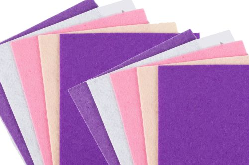 Pastel Assorted Felt Sheets - 30 x 30cm - Pack of 100
