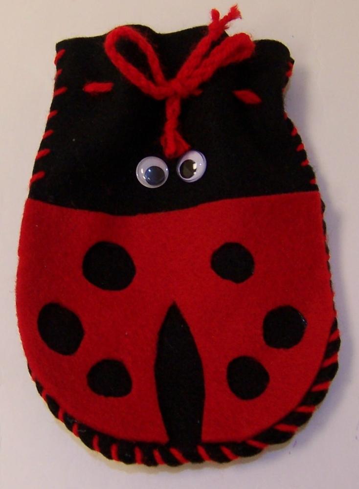 Felt Ladybird Purse Kit - Pack of 6