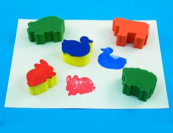 Animal Painting Sponges - Assorted - Pack of 5