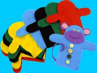 Felt Hand Puppets - Assorted - Pack of 10