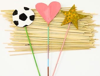 Natural Wooden Sticks - 20cm - Pack of 100
