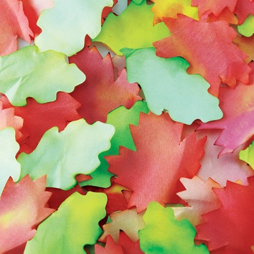 Autumn Paper Leaves - Assorted - Pack of 300