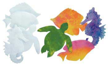 Sealife Colour Diffusing Paper - 18 x 23cm - Assorted - Pack of 48