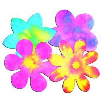 Flower Colour Diffusing Paper - 23cm - Assorted - Pack of 80