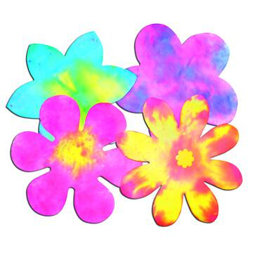 Flowers  Colour Diffusing Paper - 23cm - Assorted - Pack of 80