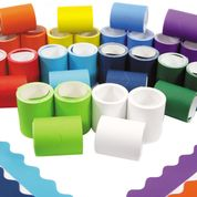 Fadeless Card Border Rolls - 57mm x 7.5m - Assorted - Pack of 72 ( 2 x 36 )