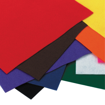 Felt Sheets - Self Adhesive - 22 x 25cm - Assorted - Pack of 10