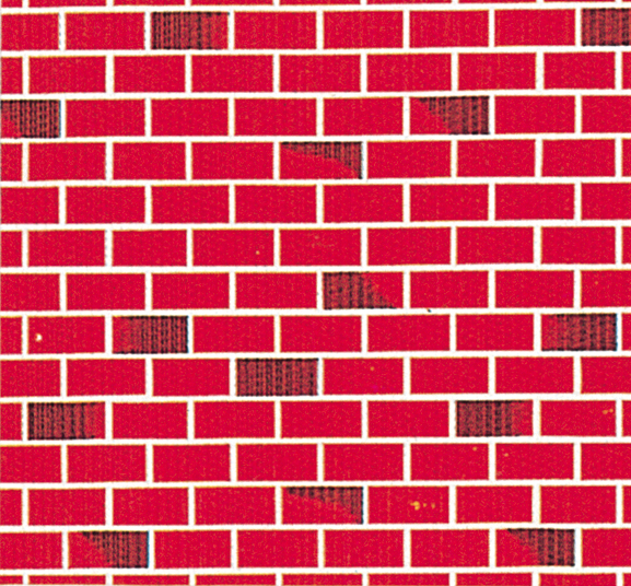 Fadeless Display Roll Red Brick 1218mm X 15m Each