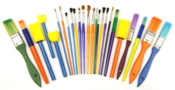 Starter Painting Brush Set - Assorted - Pack of 25