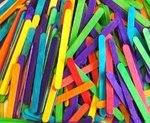 Craft Lolly Sticks - Coloured - 108 x 10mm - Pack of 250