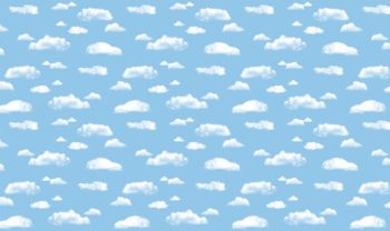 Fadeless Display Roll - Clouds - 1218mm x 15m - Each