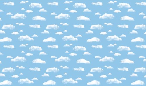 Clouds Fadeless Display Roll - 1218mm x 15m - Each