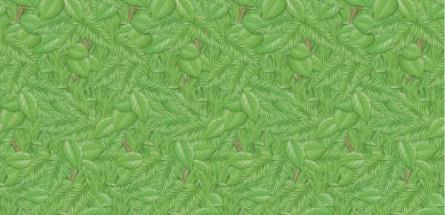 Rainforest Tropical Foliage Fadeless Display Roll - 1218mm x 15m - Each