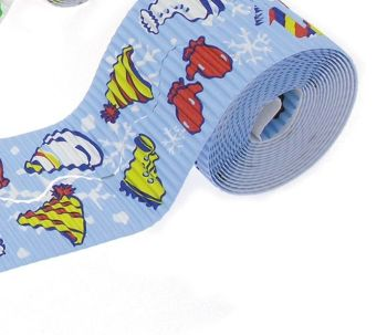Corrugated Border Rolls - Winter Fun - Wavy Edge - 3.75m - Pack of 2