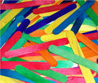Jumbo Coloured Craft/Lolly Sticks - 165 x 20mm - Assorted - Pack of 100