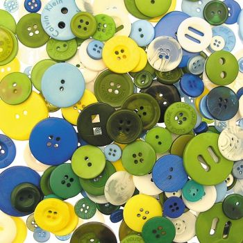 Buttons - Cool Colours - Assorted - 500g