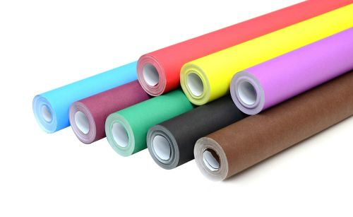 Educraft Wide Poster Paper Rolls - Assorted - Pack of 8 - 1020mm x 10m
