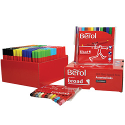 Berol Colour Broad Colouring Pens - Assorted - Class Pack of 288