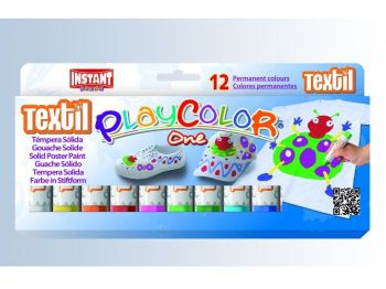Playcolor Textile Paint Sticks - Assorted - Pack of 12