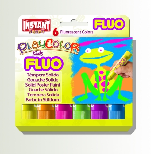 Playcolor Fluorescent Painting Sticks - Assorted - Pack of 6