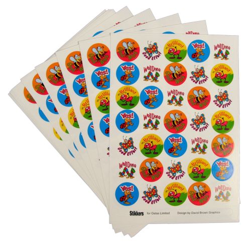 Bugs & Insect Stickers - Assorted - Pack of 420